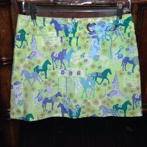 Rare Lilly Pulitzer Kentucky Derby Skirt. Size 4.
